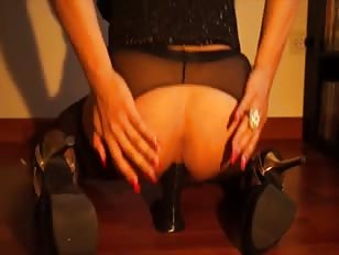 Hot Crossdresser Playing with Dildo