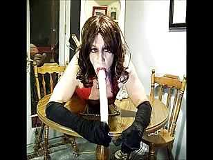 Tied up Slut is Forced to Suck a Dildo