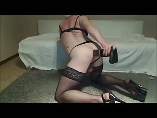 Crossdresser Sandy Loves Dildoing and Fisting Her Ass