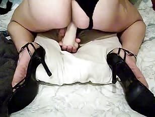 CD on Her Knees Riding her Toy