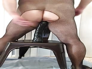 Crossdressers Asshole Swallows Dildo