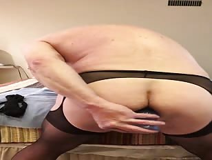 Sissy Fat Brad Fucks His Asshole and Eats His Cum