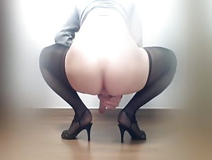 Asian Sissy Crossdresser Jerks Off