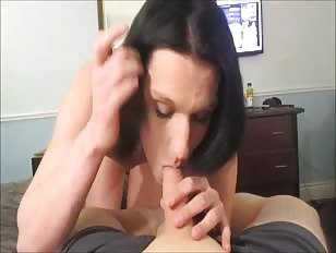 Sissy Prostitute Sucking Cock in Hotel Room