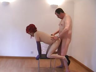 Amateur Redhead Crossdresser Getting Her Asshole Filled With Dick