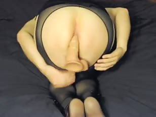 Crossdresser Cums from Behind
