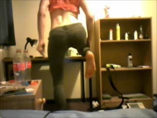 Teen Crossdresser on Webcam