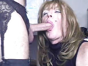 Horny Crossdresser Likes Giving Blowjob