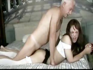 Crossdresser banged old man