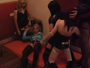 Dirty Amateur Crossdress Orgy