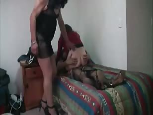 Three Amateur Crossdressers in Action
