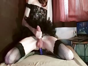 Blue Dildo Fun