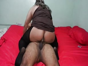 Chubby Crossdresser Slams Hard Dick With His Ass