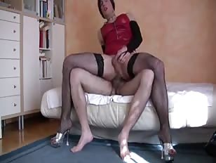 Gorgeous Crossdresser Rides Best Friends Dick
