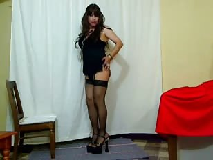 Crossdressing Prostitute Teases and Strips