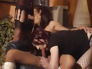 Horny Crossdressers in Amazing Threesome Fuck Adventure