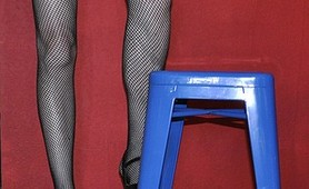 Crossdresser wth stool