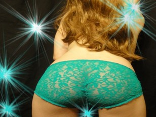 A Star is Born Little Tiffany in Teal Green Bikini Panties