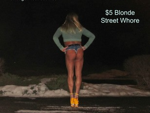 Raquel St.Clair Tanned Blonde Street Whore