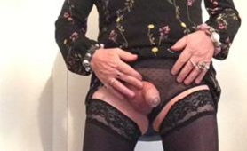 Tracy Tranny Slut Posing in Her Lingerie