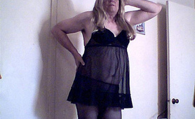 Enjoying My Negligee
