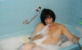 MOUNIR MOURACADE crossdresser in the tub