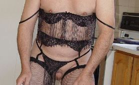MOUNIR MOURACADE IN BLACK LINGERIE