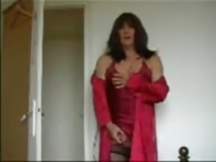 Me in Red Nighty and Negligee