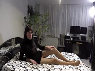 Sissy Crossdresser Gets Horny While Posing for Camera