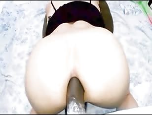 Black Dildo Deep Inside My Sissy Ass