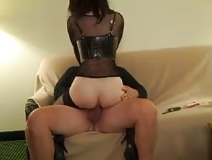 Crossdresser Steve Kuhn Rides Cock and Gives BJ