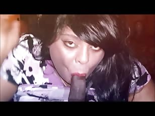 Chubby Crossdresser Sucking Big Black Cock