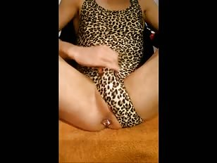 Cum All Over Leopard Swimsuit
