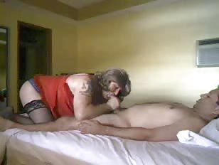 Hard Crossdressing Sex Adventure in Motel Room
