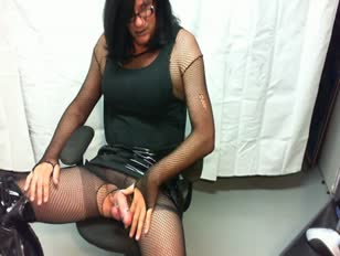 Lovely CD in Sexy Stockings Wanking