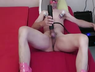 Sissy Slave Got His Cock Milked by a Machine
