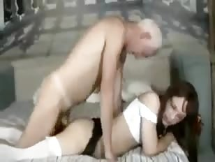 Old Man Bangs Crossdressers Tight Ass