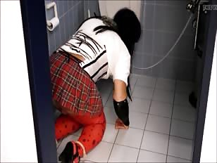 CD Toilet Slave Licking