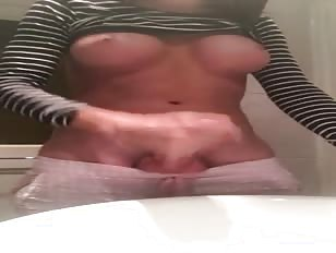 Huge cock jerking off