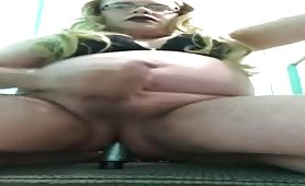 Riding my vibrator and sissygasm