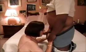 Crossdresser Sucks Black Cock