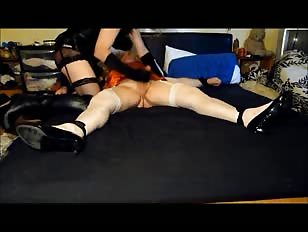 Mistress and Slave Share Cock Fun